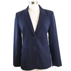 1901 Stretch Cotton Twill Navy Blazer - 12 -
